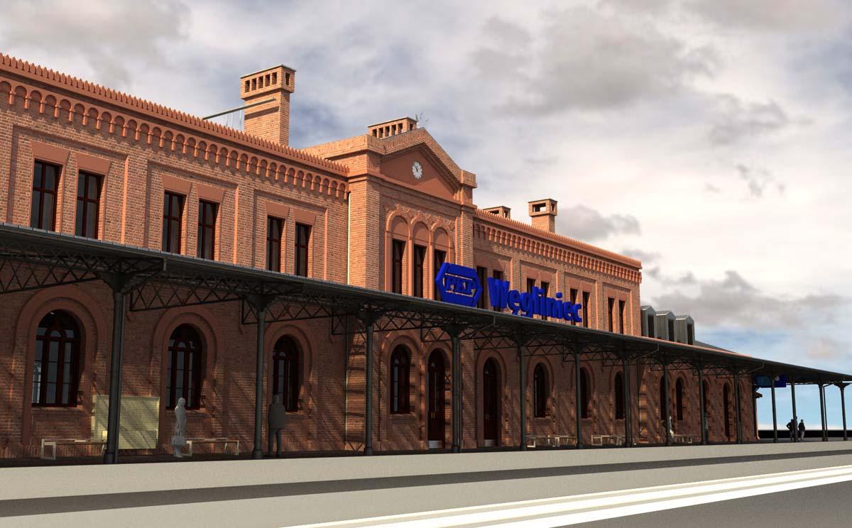 Wizualizacja dworzec w Węglińcu (2)